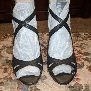 Cross Ankle strap heels